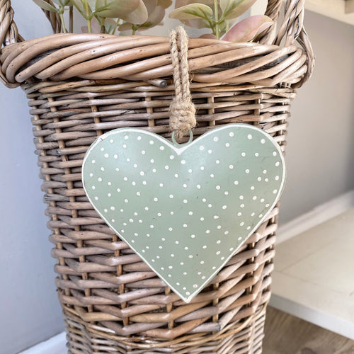 SAGE SPOTTY METAL HEART