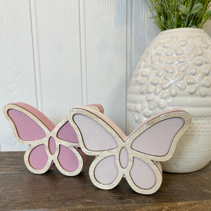 WOODEN BUTTERFLY PAIR