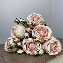 Load image into Gallery viewer, MINK PEONY & ROSE SPRAY
