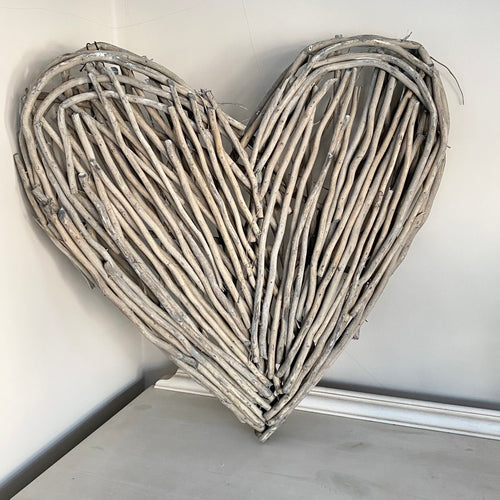 GREY WASH WILLOW HEART