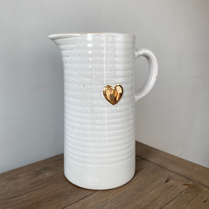 GOLD HEART JUG