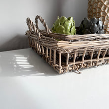 Load image into Gallery viewer, WICKER TRAY