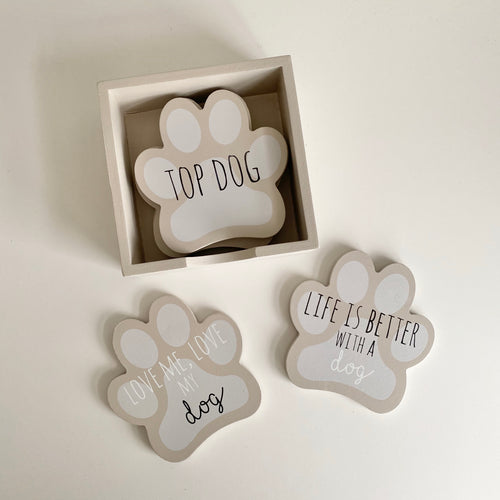 DOG PAW COASTERS
