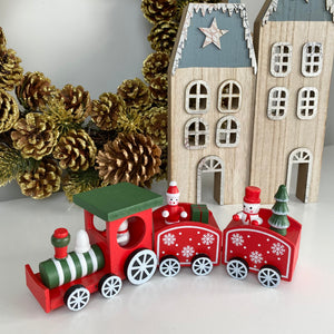 RED & GREEN FESTIVE TRAIN