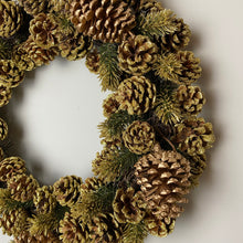 Load image into Gallery viewer, GOLD PINECONE WREATH