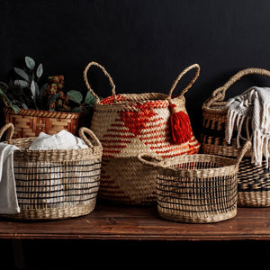 TERRACOTTA SEAGRASS BASKET
