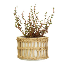 Load image into Gallery viewer, SPECKLED & WOVEN PLANTER