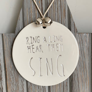 RING A LING PORCELAIN SIGN