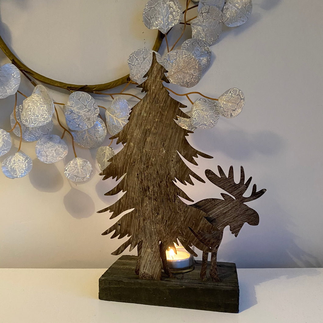 MOOSE TEA LIGHT HOLDER