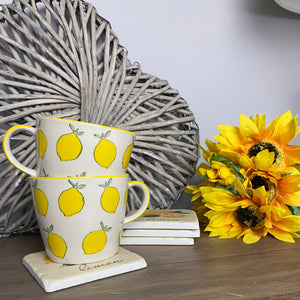 SET OF LEMON MUGS