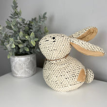 Load image into Gallery viewer, KNITTED BUNNY DOORSTOP