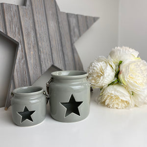 GREY STAR LANTERN SET