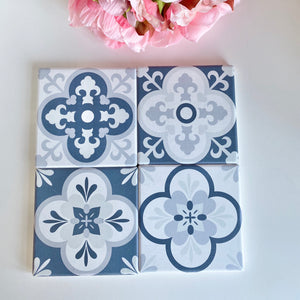 BLUE TILE COASTERS