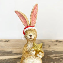 Load image into Gallery viewer, STAR SITTING SANTA BUNNY