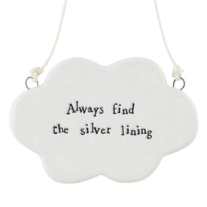 PORCELAIN CLOUD SIGN