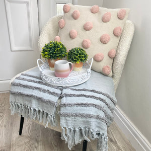 LIGHT PINK POM POM CUSHION