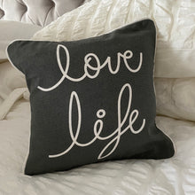 Load image into Gallery viewer, GREY SLOGAN CUSHION