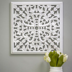 WHITE SQUARE HEART PANEL