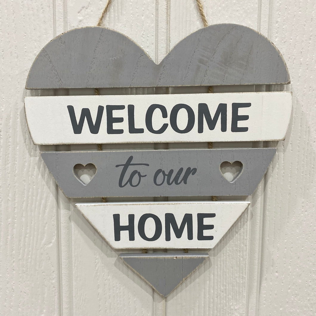 SLATTED HOME SIGN