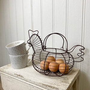 WIRE HEN EGG BASKET