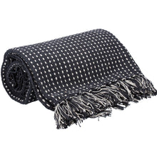 Load image into Gallery viewer, CHARCOAL WOVEN STITCH THROW
