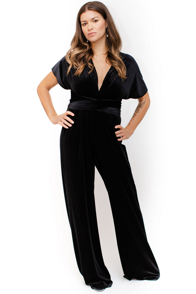 Twobirds - Velvet Jumpsuit - Black