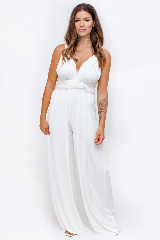 Twobirds - Jersey Jumpsuit - White