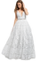 Jovani - Embroidered Gown - White