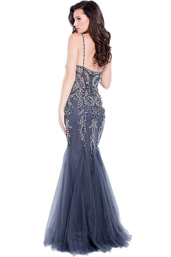 Jovani - Beaded Mermaid - Light Blue