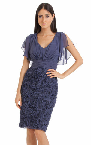 JS Collection - Rosette Cocktail Dress - Navy