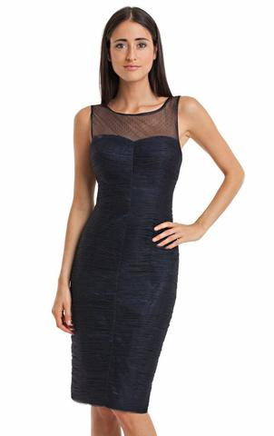 JS Collection - Ruched Cocktail Dress - Navy