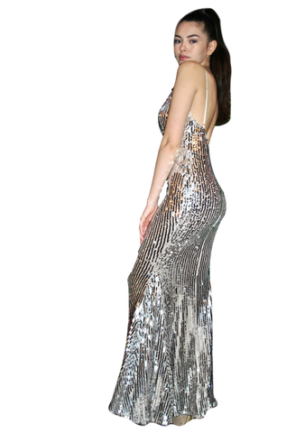 Luxxel - Mermaid Maxi - Silver Sequin
