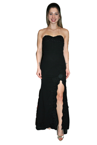 Luxxel - Strapless Gown - Black