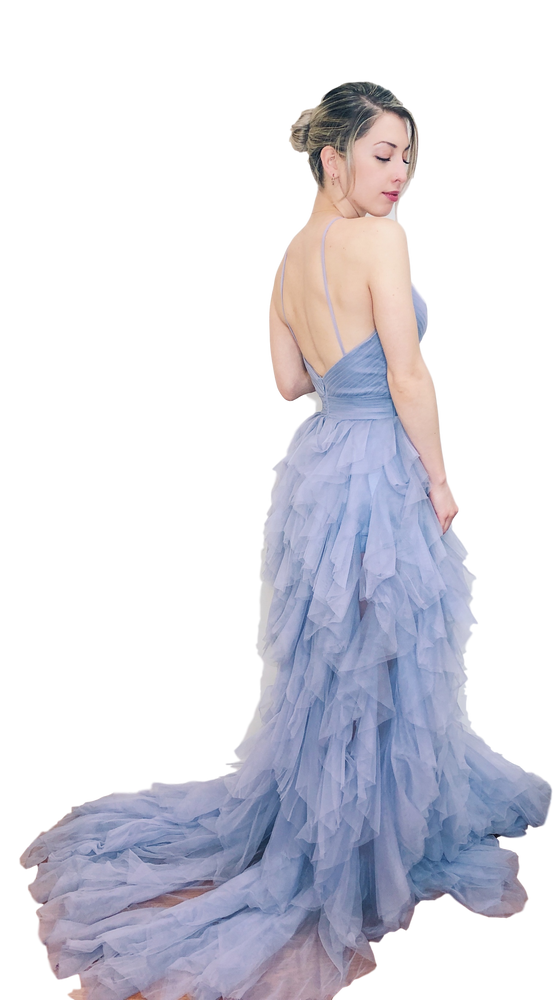 Terani Couture - Textured Gown - Lilac