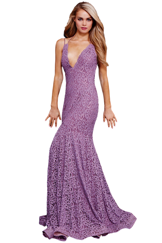 Jovani - Lace Mermaid - Mauve
