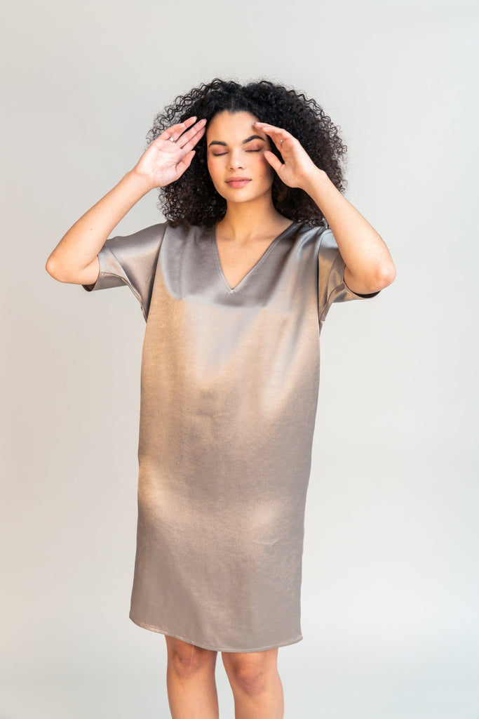 Obakki - T-Shirt Dress - Metallic
