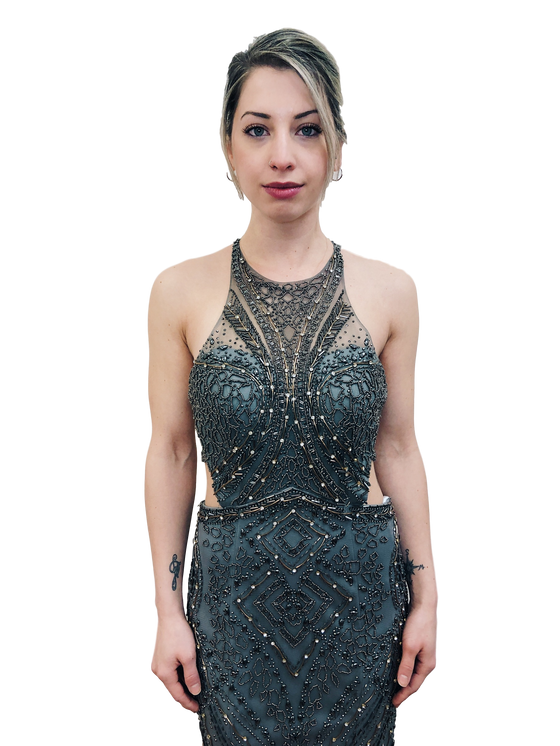 Alyce - Beaded Mermaid - Slate