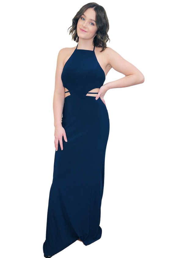 Faviana - Cut Out Maxi - Navy