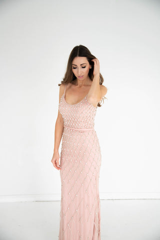 Terani Couture - Beaded Gown - Blush