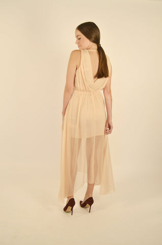 Keepsake - All Rise Maxi Dress -Biscuit