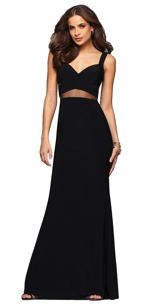 Faviana - Illusion Gown - Black