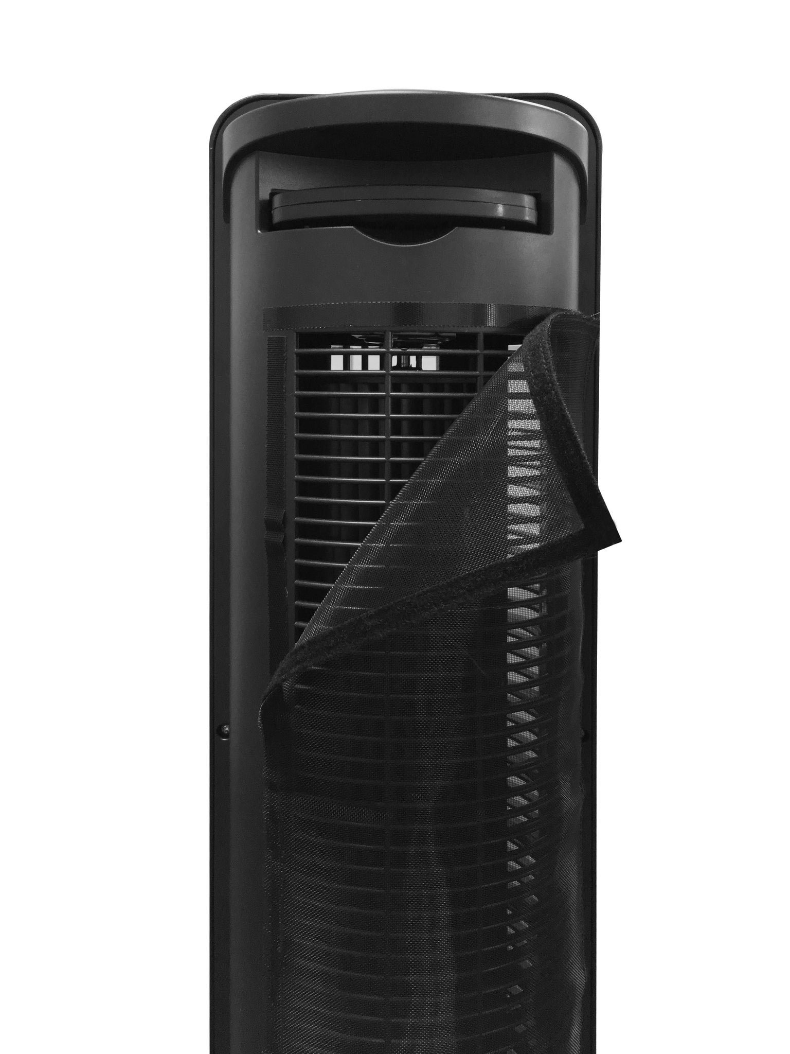 Luxurious Tower Fan Circulator for Large Size Room with Aluminum Side Column with Gliding Grille Technology and Adjustable Wind Delivery Angle (Model No: X02BR)