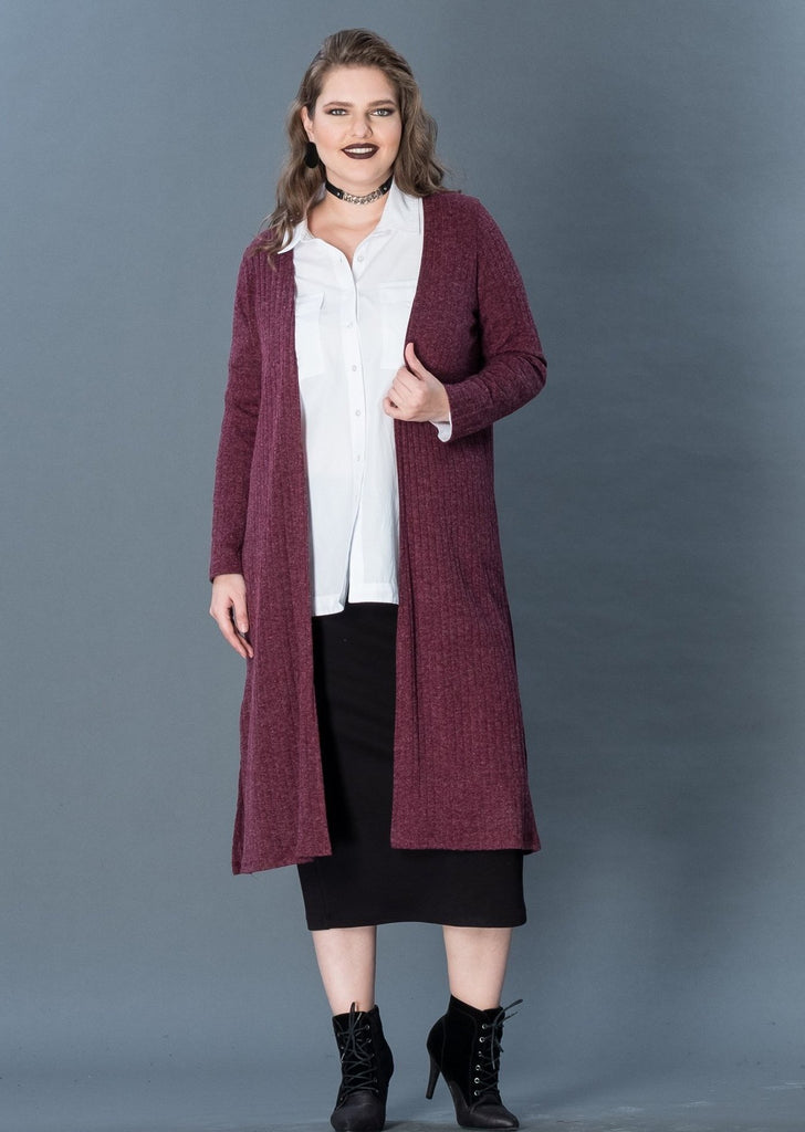 Long Tricot Cardigan