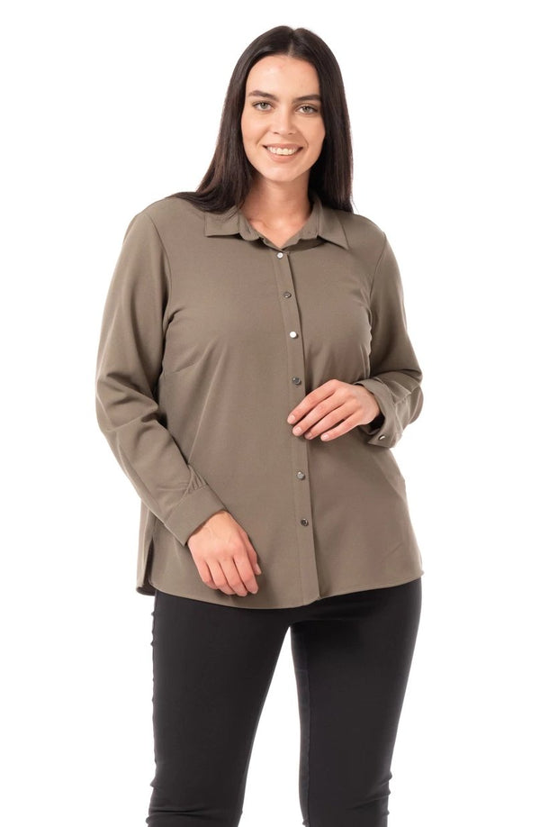 Plus Size Shirt Models - Classic Placked Shirt