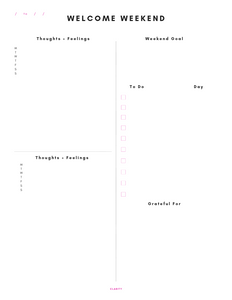 13-Week Clarity Pages, printable