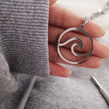 Wave Chain Pendant Necklace - Endless Tube Surf Shop