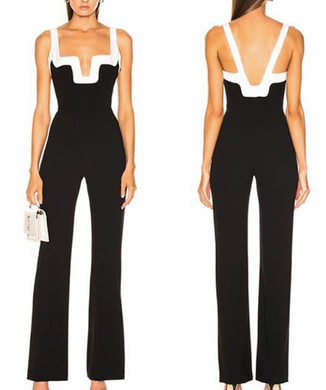 Jumpsuit Black / White
