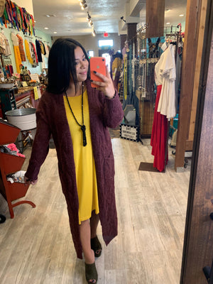 Knitted Long Duster