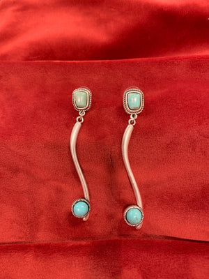 Dangle Turquoise Stud Earrings