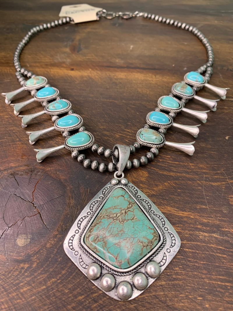 Navajo Kingman Necklace
